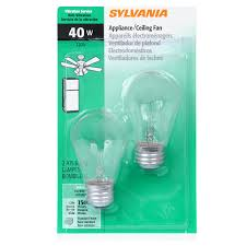 shop sylvania 2 pack 40 watt indoor dimmable soft white a15