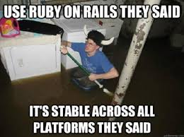 Ruby On Rails Meme - ruby on rails coded pinterest nerd jokes and humor