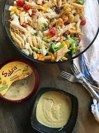 classic pasta salad mediterranean hummus pasta salad