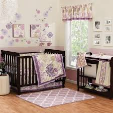 nursery beddings baby bedding sets purple and green together
