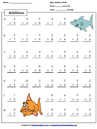 education world super teacher addition worksheet