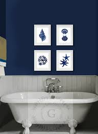 navy blue bathroom ideas blue and white bathroom decoration using blue and white seashell
