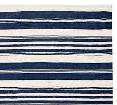 Pottery Barn Area Rugs Clearance Oxford Stripe Indoor Outdoor Rug Blue Pottery Barn Rugs