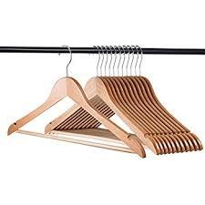 premium wooden hangers pack of 20 suit hangers
