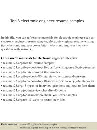 Excellent Resumes Samples by Excellent Resume Sample For Electronics Engineer 73 About Remodel