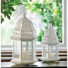 100 white moroccan wedding candle lantern centerpieces
