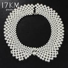 fashion collar necklace wholesale images Handmade simulated pearl collar necklace choker necklace jewelry jpg