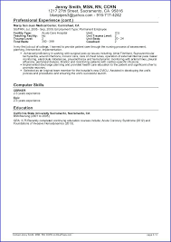 Resume Templates For Registered Nurses Free Nursing Resume Resume Template And Professional Resume