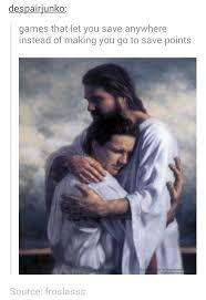 Bro Jesus Meme - hug it out bro thanks jesus meme by greystar memedroid