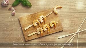 cuisine tv fr bridelice brochettes de crevettes sauce pistou pub tv 2017