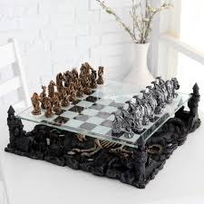 decorations 3d dragon pewter chess set chess sets at hayneedle