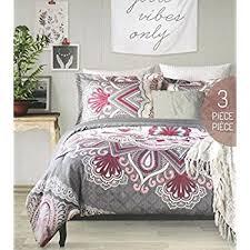 Floral Medallion Duvet Cover Amazon Com Duvet Cover Set Full Queen Size Bed Luxury 3 Piece