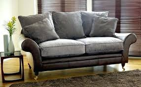 Leather And Upholstered Sofa Mixing Leather And Fabric Sofa Appealing With Sofas Sectional