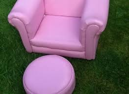 Childrens Leather Chair And Footstool Buy Pink Lazybones Rocker Chair And Footstool Kids Rocking