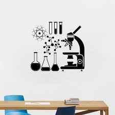 aliexpress com buy microscope science scientist chemistry vinyl aliexpress com buy microscope science scientist chemistry vinyl wall sticker school laboratory wall art mural decals decor from reliable vinyl wall