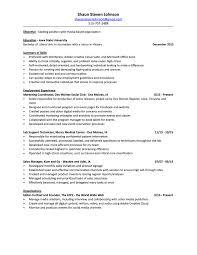 Program Coordinator Resume Sales And Marketing Coordinator Resume Free Resume Example And