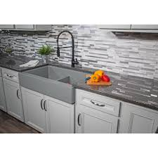 is an apron sink the same as a farmhouse sink karran retrofit farmhouse apron front quartz composite 34 in