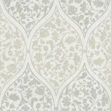 adelaide light green ogee floral wallpaper contemporary