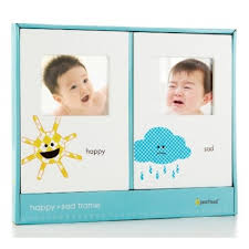 pearhead photo album pearhead happy sad frame set set of 2 just4bb