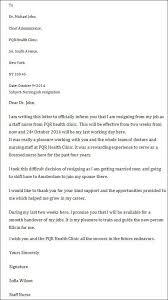 resignation letter nursing sample nurse resignation letter 8