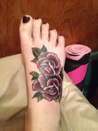 rose foot tattoos google search hmm new things for me