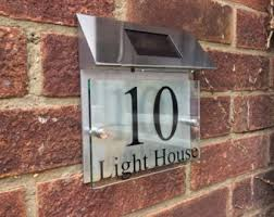 house number light box lighted house number etsy