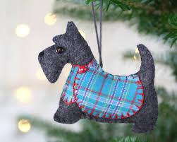 scottie ornament dougal coat puffin patchwork