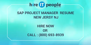Sap Project Manager Resume Sap Project Manager Resume New Jersy Nj Hire It People We Get