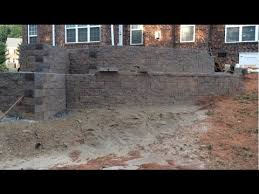 Making A Paver Patio by Part 2 How To Build A Paver Patio On A Slope Youtube