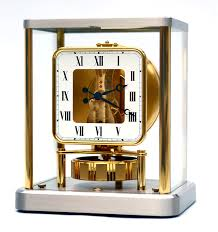 superb u0026 rare rhodium square face jaeger lecoultre atmos clock 540