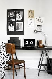 sunday decor black and white home office inspiration