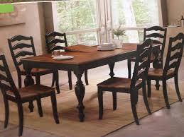 Walnut Dining Room Sets Bf2253 Becky Black U0026 Walnut Dining Table With 6 Chairs U2013 Bargain