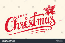 merry christmas text lettering design card stock vector 531815467