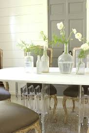 acrylic dining room table acrylic dining table transitional dining room benjamin moore