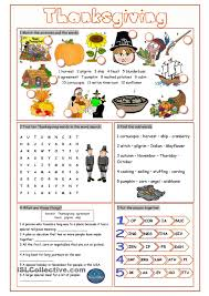 thanksgiving esl worksheets jannatulduniya