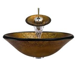 polaris p316 wf 16 1 4 inch gold bronze bathroom waterfall faucet