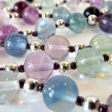 Handcrafted Handmade Semiprecious Gemstone Beaded Fluorite Necklaces Beadage