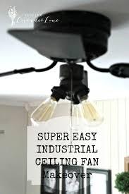 industrial looking ceiling fans super easy industrial style fan makeover seeking lavendar lane