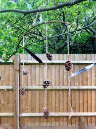 pine cone craft kids mobile outdoor mobile nature mobile