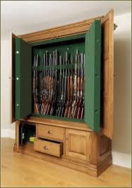 gun cabinet wooden surround home design