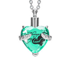 ashes necklace cremation urn necklace for ashes with beautiful gift box urn