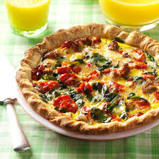 roasted tomato quiche recipe taste of home