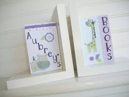 personalized bookends baby personalized bookends made to coordinate with carters zoo garden