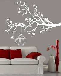 white tree branch bird cage wall decal home wished home white tree branch bird cage wall decal