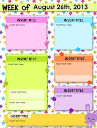 editable stars parent newsletter powerpoint template free tpt