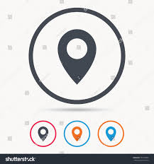 Circle Map Location Icon Map Pointer Symbol Colored Stock Vector 557476054