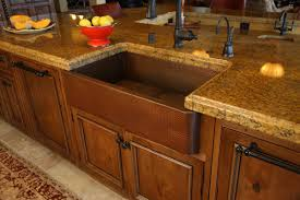 decorating rectangle apron sink on cream kitchen cabinet with