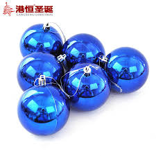 tree decoration 6 cm to 10 cm the light blue electroplating