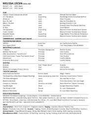 Audition Resume Sample by Cover Letter Acting Resume Examples Acting Resume Samples Acting
