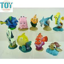 nemo cake toppers new 9pcs finding nemo playset figure doll clownfish fish cake